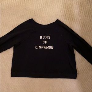 Wildfox Buns Of Cinnamon Black sweatshirt